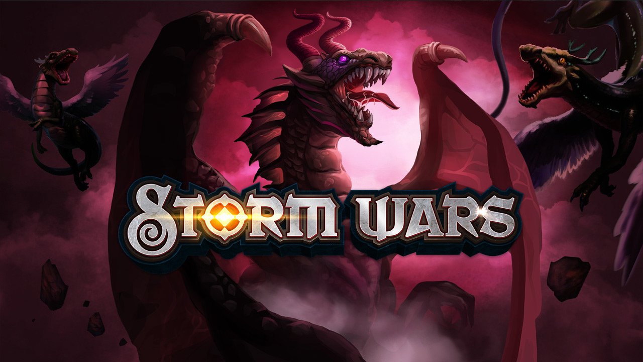 Storm Wars collectible card game - splash